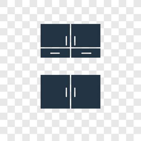 Icône de vecteur de Cabinet isolé sur fond transparent, concept de logo de transparence Cabinet