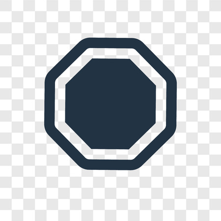 Polygon vector icon isolated on transparent background, Polygon transparency logo concept