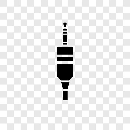 Audio jack vector icon isolated on transparent background, Audio jack transparency logo concept 스톡 콘텐츠 - 112360456