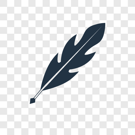 Quill vector icon isolated on transparent background, Quill transparency logo concept