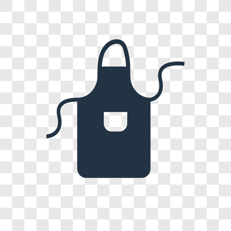 Apron vector icon isolated on transparent background, Apron transparency logo concept Illustration