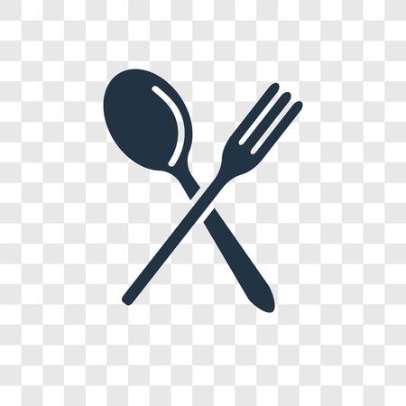 Fork vector icon isolated on transparent background, Fork transparency logo concept Standard-Bild - 112360794