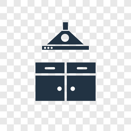 Okap wektor ikona na białym tle na przezroczystym tle, koncepcja logo przezroczystości okapu