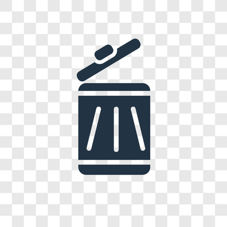 Trash vector icon isolated on transparent background, Trash transparency logo concept