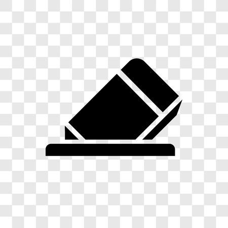 Eraser vector icon isolated on transparent background, Eraser transparency logo concept Illustration