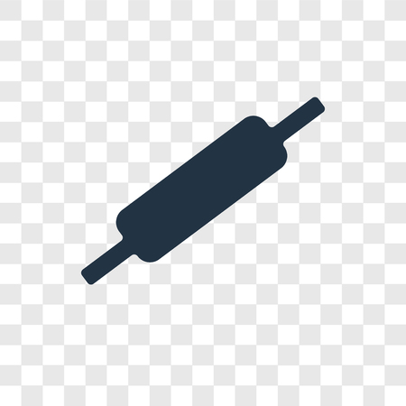 Rolling pin vector icon isolated on transparent background, Rolling pin transparency logo concept Standard-Bild - 112361444