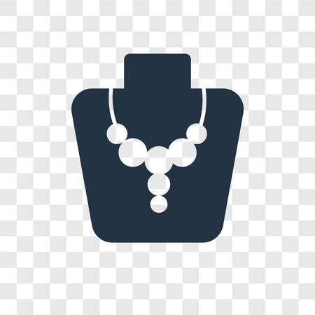Necklace vector icon isolated on transparent background, Necklace transparency logo concept Çizim