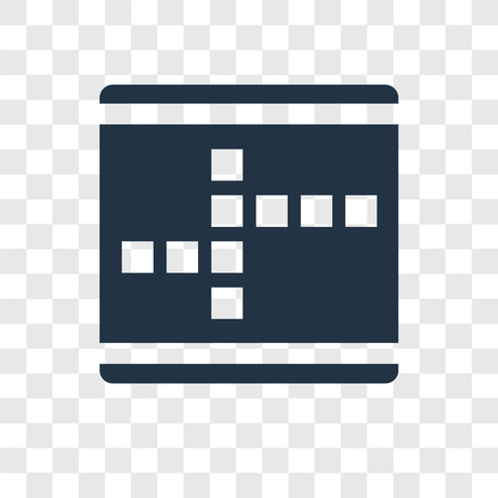 Crossword vector icon isolated on transparent background, Crossword transparency logo concept