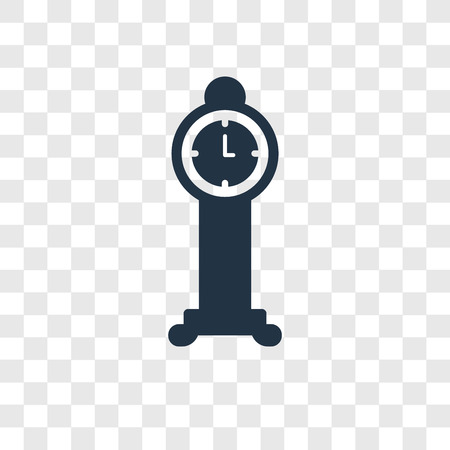 Clock vector icon isolated on transparent background, Clock transparency logo concept Illusztráció