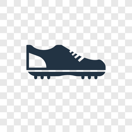 Football shoes vector icon isolated on transparent background, Football shoes transparency logo concept Illustration