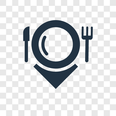 Hot dish vector icon isolated on transparent background, Hot dish transparency logo concept Illustration