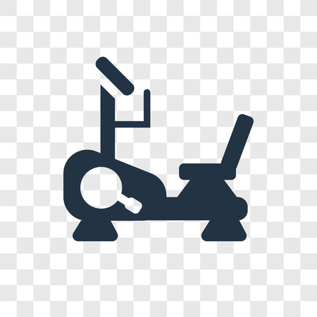Stationary bike vector icon isolated on transparent background, Stationary bike transparency logo concept