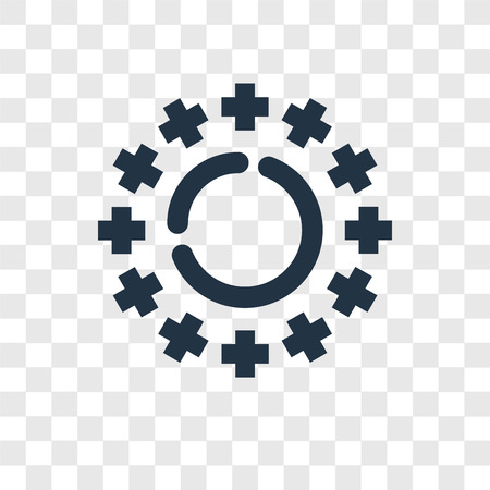 Loading vector icon isolated on transparent background, Loading transparency logo concept Çizim