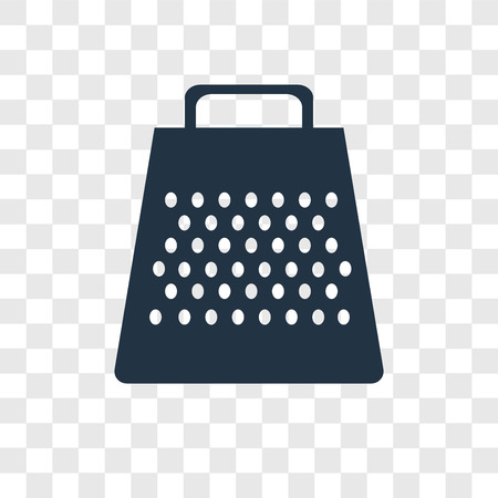 Grater vector icon isolated on transparent background, Grater transparency logo concept Standard-Bild - 112441184