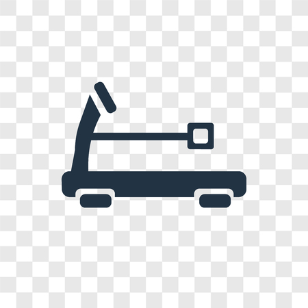 Treadmill vector icon isolated on transparent background, Treadmill transparency logo concept