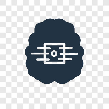 Artificial intelligence vector icon isolated on transparent background, Artificial intelligence transparency logo concept Иллюстрация