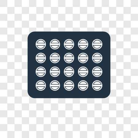 Pills vector icon isolated on transparent background, Pills transparency logo concept Illusztráció