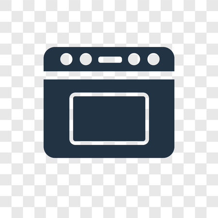Oven vector icon isolated on transparent background, Oven transparency logo concept Standard-Bild - 112441580
