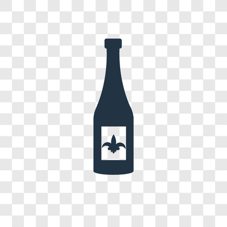 Wine vector icon isolated on transparent background, Wine transparency logo concept