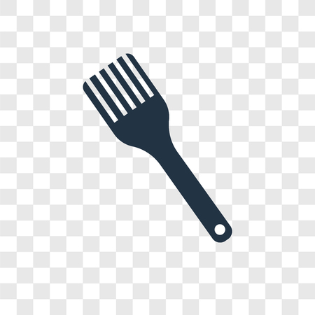 Brush vector icon isolated on transparent background, Brush transparency logo concept