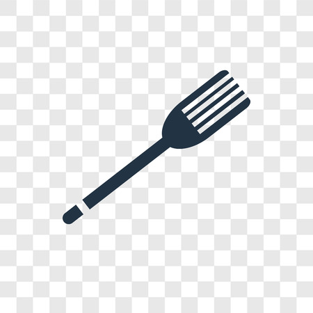 Fork vector icon isolated on transparent background, Fork transparency logo concept Standard-Bild - 112442479