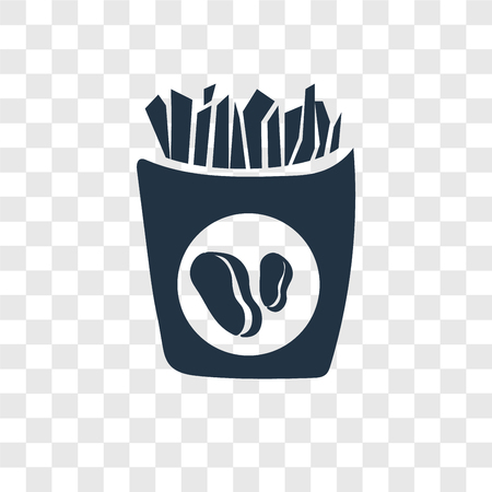 Fries vector icon isolated on transparent background, Fries transparency logo concept