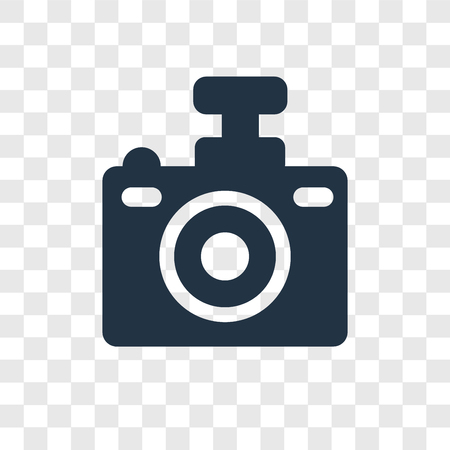 Compact Camera vector icon isolated on transparent background, Compact Camera transparency logo concept