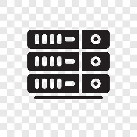 Server-Vektor-Symbol auf transparentem Hintergrund isoliert, Server-Transparenz-Logo-Konzept