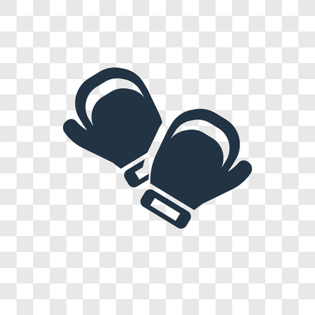 Boxing gloves vector icon isolated on transparent background, Boxing gloves transparency logo concept