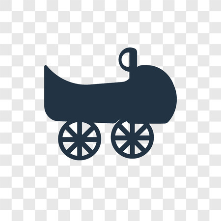 Bumper car vector icon isolated on transparent background, Bumper car transparency logo concept