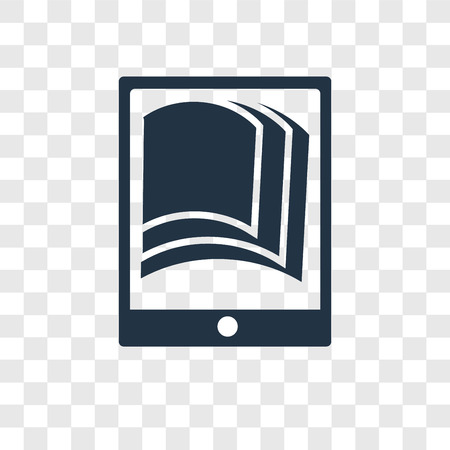 Ebook vector icon isolated on transparent background, Ebook transparency logo concept