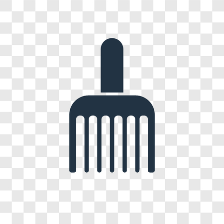 Brush vector icon isolated on transparent background, Brush transparency logo concept Standard-Bild - 112444545