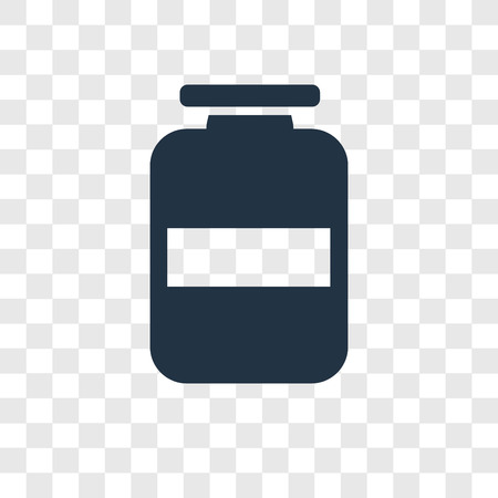 Jar vector icon isolated on transparent background, Jar transparency logo concept Standard-Bild - 112444704