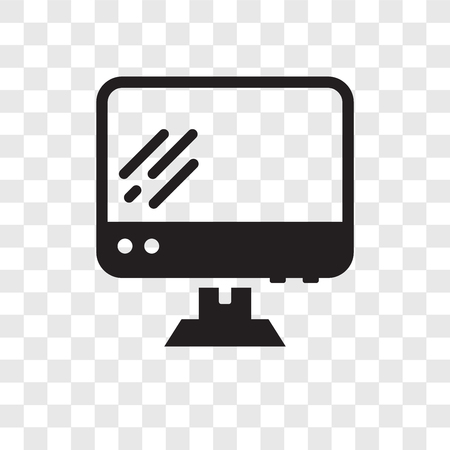 Personal Computer vector icon isolated on transparent background, Personal Computer transparency logo concept