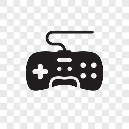 Game controller vector icon isolated on transparent background, Game controller transparency logo concept