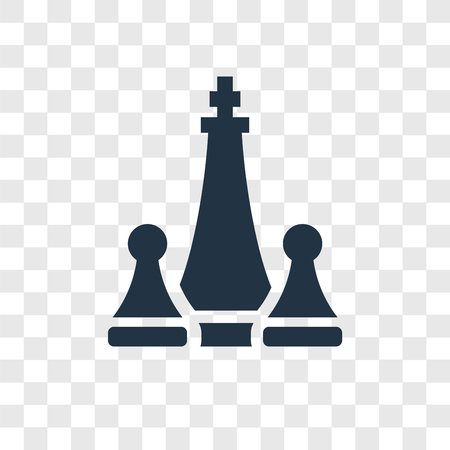 Icône vecteur d'échecs isolé sur fond transparent, notion de logo de transparence d'échecs Logo