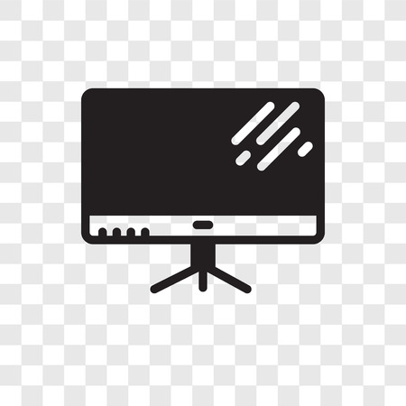 Television vector icon isolated on transparent background, Television transparency logo concept