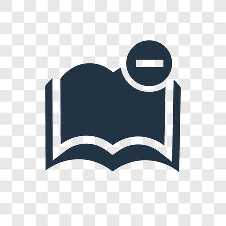 Icône de vecteur de livre isolé sur fond transparent, concept de logo de transparence livre Logo