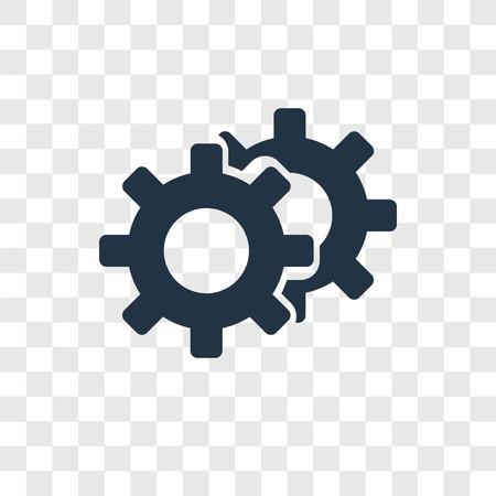 Icône de vecteur de configuration isolé sur fond transparent, concept de logo de transparence Configuration Logo
