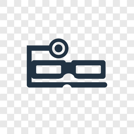 Ar glasses vector icon isolated on transparent background, Ar glasses transparency logo concept