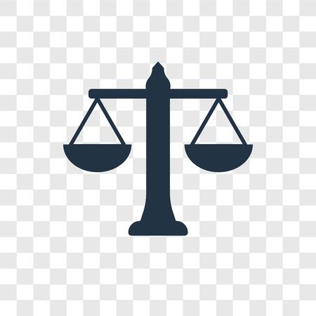Balance vector icon isolated on transparent background, Balance transparency logo concept Ilustrace
