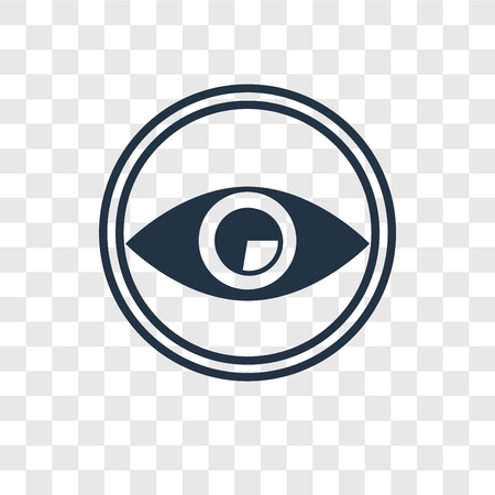 Eye vector icon isolated on transparent background, Eye transparency logo concept