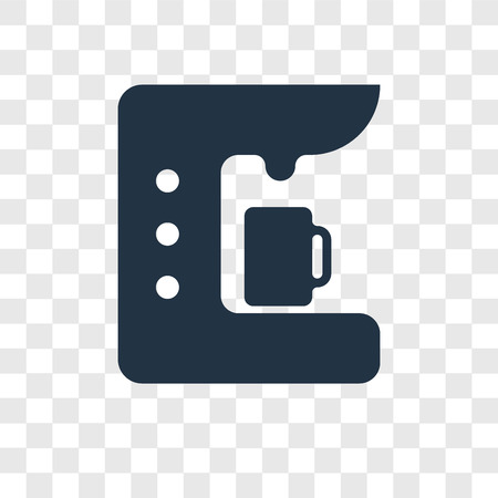 Coffee maker vector icon isolated on transparent background, Coffee maker transparency logo concept Standard-Bild - 112445611