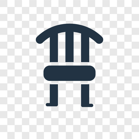 Chair vector icon isolated on transparent background, Chair transparency logo concept
