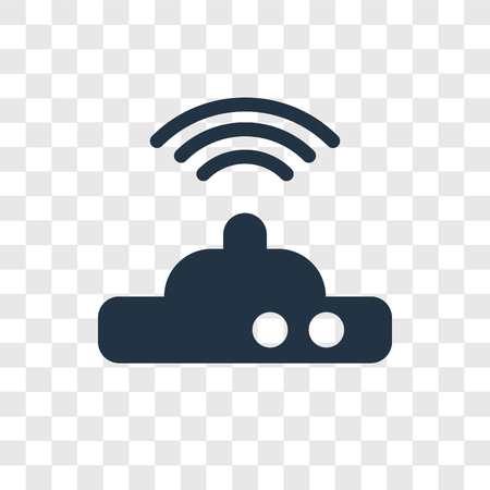 Wifi Modem vector icon isolated on transparent background, Wifi Modem transparency logo concept