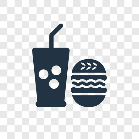 Fast food vector icon isolated on transparent background, Fast food transparency logo concept