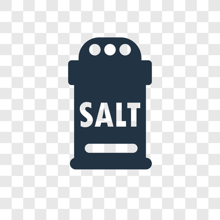 Salt vector icon isolated on transparent background, Salt transparency logo concept