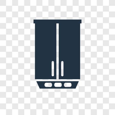 Fridge vector icon isolated on transparent background, Fridge transparency logo concept