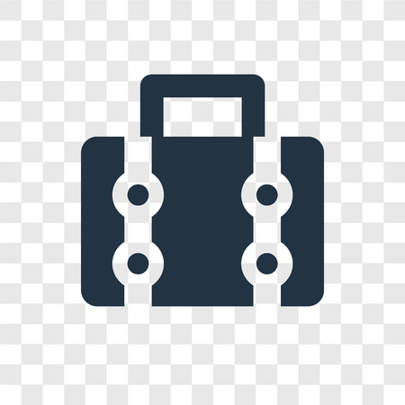 Luggage vector icon isolated on transparent background, Luggage transparency logo concept Illustration