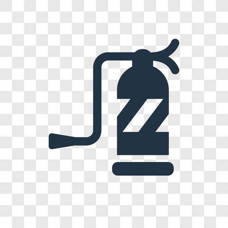 Fire extinguisher vector icon isolated on transparent background, Fire extinguisher transparency logo concept